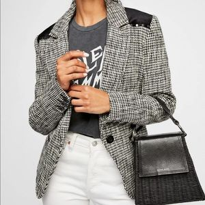 NWT Free People Rodeo Houndstooth Blazer